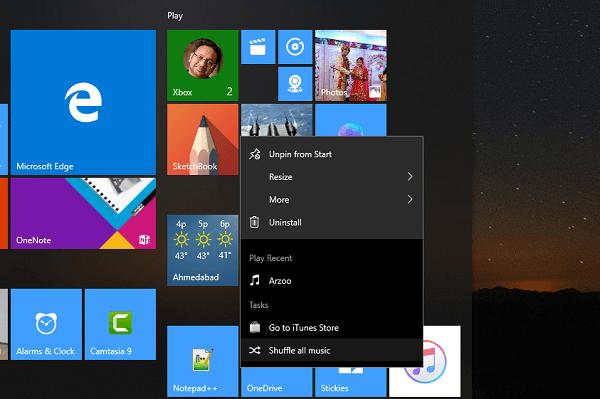 Uso de la aplicación iTunes desde el Microsoft Store en Windows 10