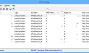 Recuperar contraseñas perdidas u olvidadas de Internet Explorer con IE PassView