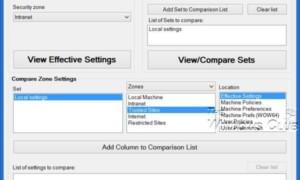 IEZoneAnalyzer de Microsoft: Comparar la configuración de la zona de seguridad de Internet Explorer