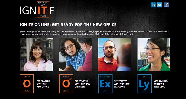 Guías de IGNITE Office 2013, Office 365, Exchange 2013, Lync 2013 de Microsoft