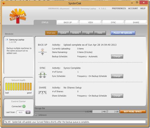 SpiderOak Free Online Backup ofrece la máxima privacidad y seguridad 2