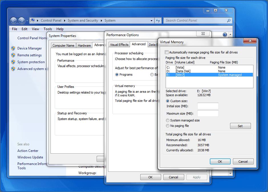 Cómo aumentar el tamaño del archivo de página o la memoria virtual en Windows 10/8/7