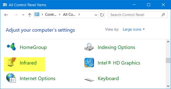 Infrarrojos en Windows 10 2