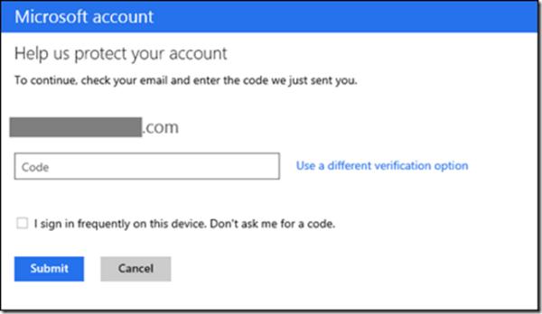 Habilitar la verificación en 2 pasos en la cuenta de Microsoft