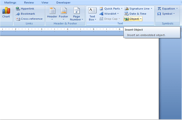 Cómo insertar una hoja de cálculo Excel en un documento de Word 5