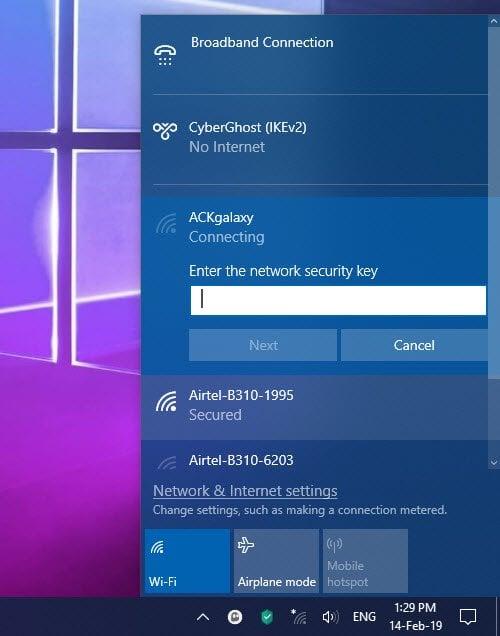 Cómo configurar una conexión a Internet en Windows 10 2