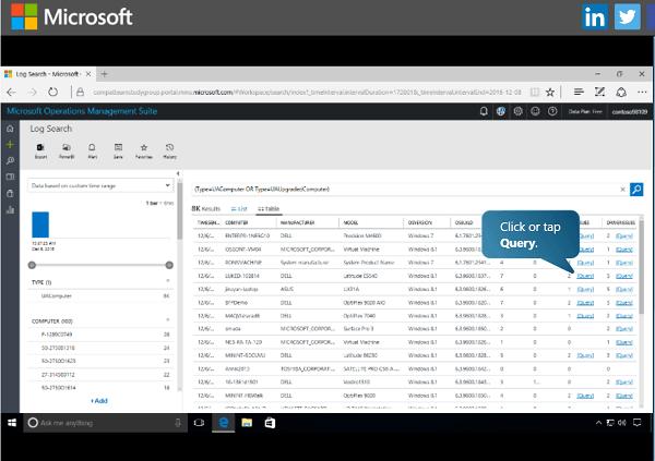 Uso de Windows Analytics Upgrade Readiness para actualizar dispositivos