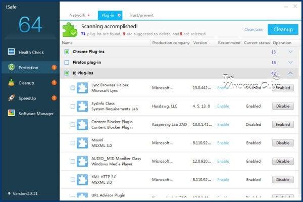 Revisión de iSafe: Comprobar la salud, endurecer la seguridad, limpiar la basura en el PC con Windows 4