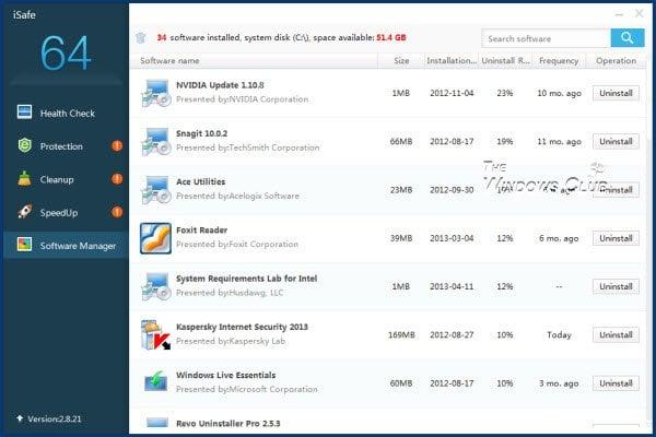 Revisión de iSafe: Comprobar la salud, endurecer la seguridad, limpiar la basura en el PC con Windows 8