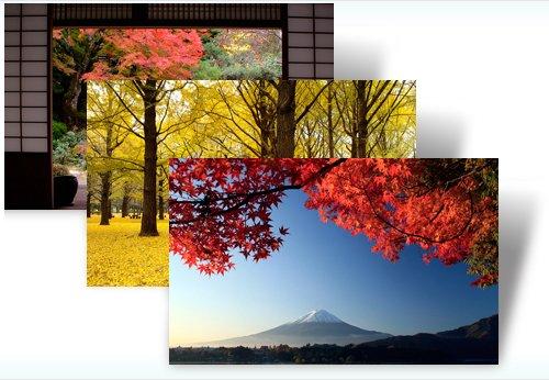 Hermosos colores otoñales de Japón - vienen a adornar su escritorio de Windows 7
