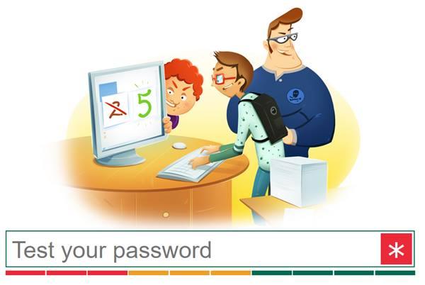 Compruebe la seguridad de la contraseña con el sitio web de Kaspersky Online Password Strength Checker 1