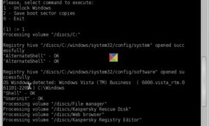 Limpie un Registro infectado con ransomware usando Kaspersky WindowsUnlocker