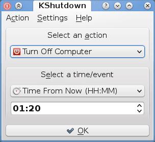 KShutdown: Apague su PC con Windows a una hora determinada