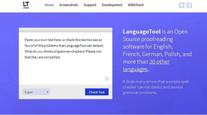 LanguageTool: Gramática y corrector ortográfico, software de escritorio y herramienta en línea gratis