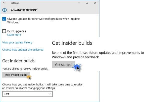 Cómo unirse o abandonar el Programa de Windows Insider