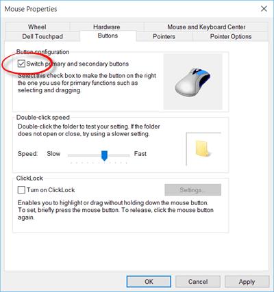 Haga clic con el botón izquierdo del ratón para abrir el Menú contextual en Windows