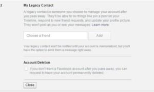 La función Legado de Facebook te permite elegir un heredero para tu cuenta de Facebook.