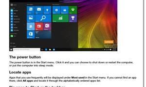 Comenzando a usar Windows 10 - Guía de Lenovo