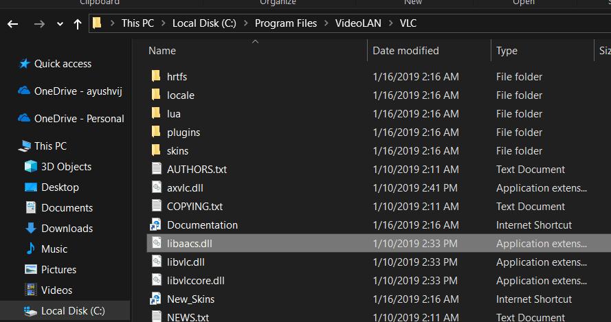 Este disco Blu-ray necesita una biblioteca para la descodificación AACS para VLC Media Player