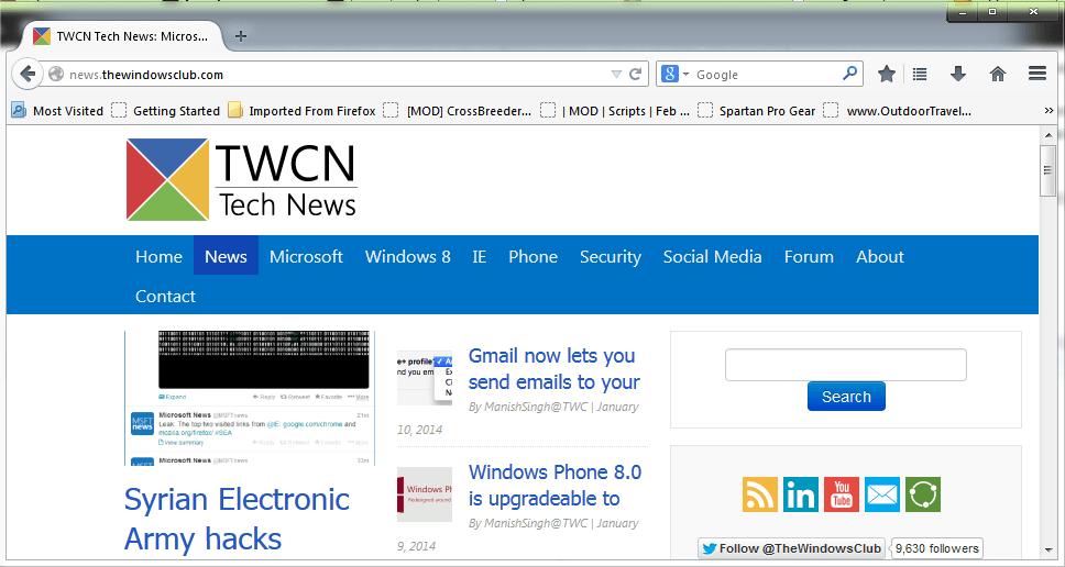 Reseña de Firefox Light, una versión reducida del navegador Firefox
