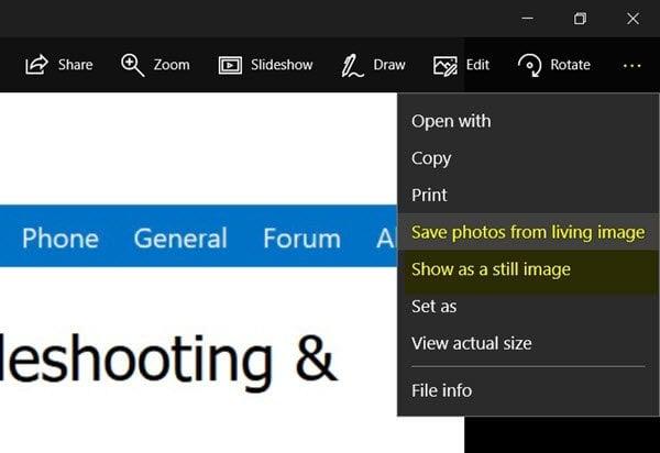 Cómo crear una imagen en vivo con Windows 10 Photos App
