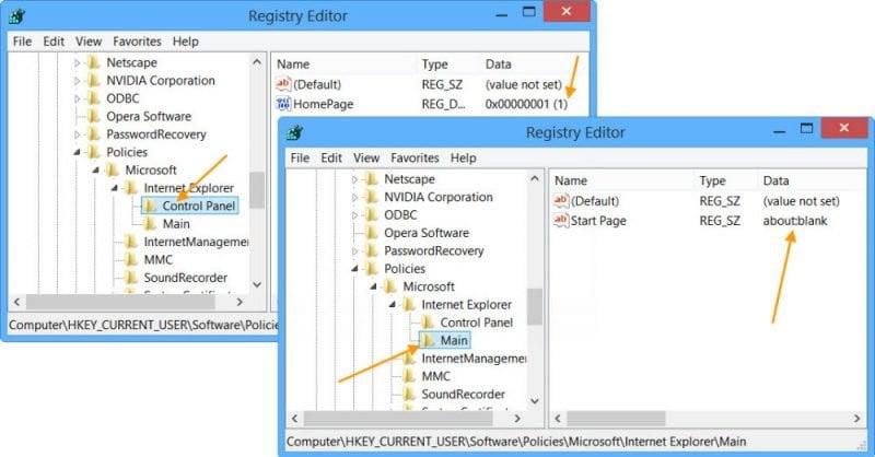 Cómo bloquear la página de inicio de Internet Explorer en Windows 10/8/7