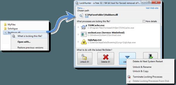 Software Free File Deleter para eliminar archivos y carpetas bloqueados en un PC con Windows 10/8/7 8