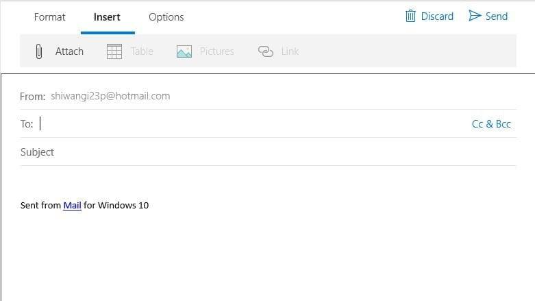 Cómo usar Windows 10 Mail App con un lector de pantalla