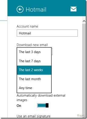 Editar la firma de Mail App y otros ajustes en Windows 10/8