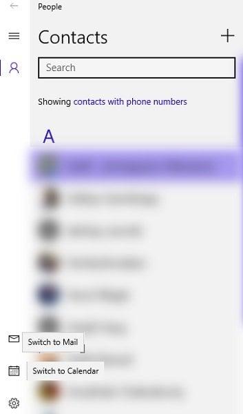 Cómo usar y administrar la aplicación People en Windows 10