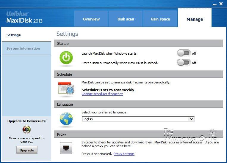 Revisión y descarga de MaxiDisk 6