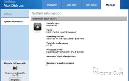 Revisión y descarga de MaxiDisk