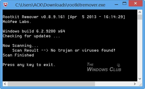Descargar McAfee Rootkit Remover para Windows