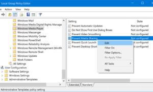 La transmisión por secuencias de multimedia no funciona o está activada en Windows 10