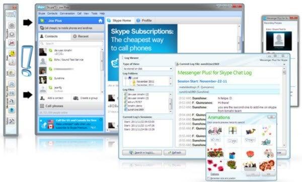 Graba videollamadas y enriquece la experiencia de chat con Messenger Plus! para Skype 1