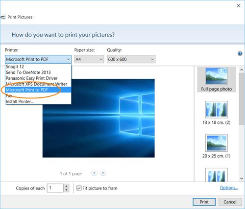 Imprima a PDF en Windows 10 sin usar ningún software 1