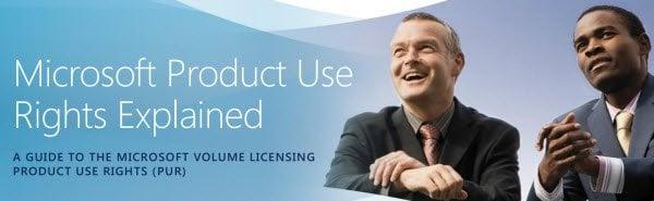 Guía de derechos de uso de productos de licencias por volumen (PUR) de Microsoft