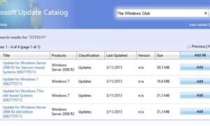 Catálogo de Microsoft Update: Descargar y guardar actualizaciones de Windows