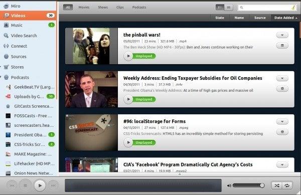 Descargar Miro: Un reproductor multimedia y de televisión por Internet de código abierto