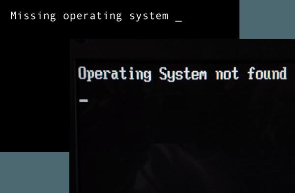 Corregido: Sistema operativo que faltaba No se encontró error en Windows 1