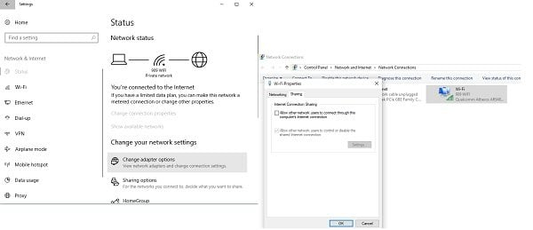 Mobile Hotspot no funciona en Windows 10