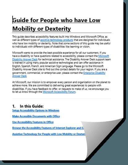 Descargar 5 Guías de accesibilidad de Microsoft