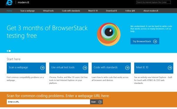 Modern.ie: Construir sitios para navegadores modernos usando los últimos recursos y herramientas.