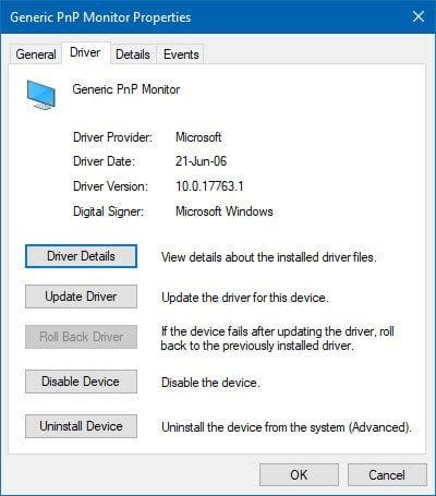 Borde o barra negra en el monitor en Windows 10 o en un dispositivo de superficie