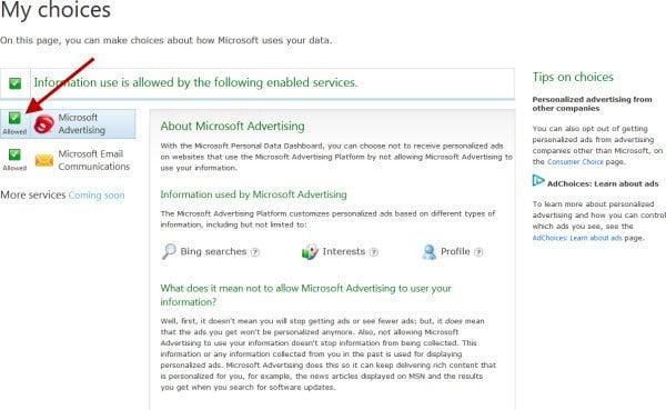 Microsoft Personal Data Dashboard le permite decidir cómo Microsoft utiliza sus datos 2