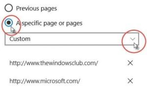 Cómo configurar varias páginas de inicio en el navegador Edge