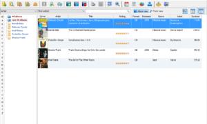 El software Music Collection le permite controlar su vasta biblioteca de música