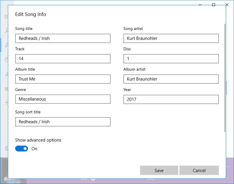 Cómo editar metadatos de música en Windows 10