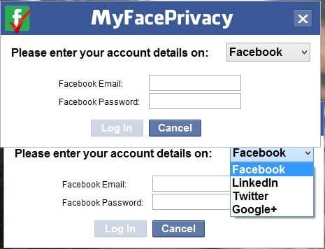 MyFacePrivacy: Software gratuito para administrar la configuración de privacidad de Facebook, Twitter y LinkedIn 1