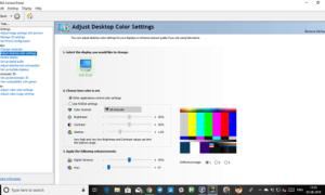 Cómo restaurar la configuración predeterminada del color de la pantalla en Windows 10